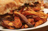 Balsamico Chilli zoete aardappel frietjes