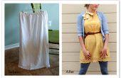 DIY rok aan jurk omwerken