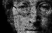 Transformeren van een gezicht in een portret van de krachtige tekst in Photoshop