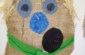 Scarecrow hoofd decoratie: basisschool kunstproject
