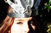 Zilveren veer kroon