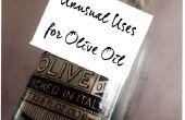Ongebruikelijk gebruikt voor olijfolie
