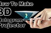 Hoe Maak 3D Hologram Projector - geen glazen