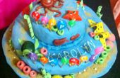 Under The Sea Forest thema witte citroen Cake.