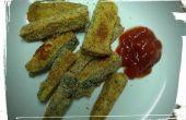 Oven gebakken courgette Fries