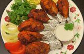 Paleo Tandoori kip en een kokosnoot room Dip