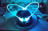 \m/ rots op rave helm voor elektrische uitvoert, electro dancemuziek