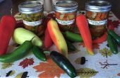 Hete pepers gebeitst