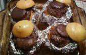 Tropische chocolade Pudding