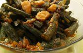 Khatti Meethi diverse (zoet zure Lady vinger/Okra) recept van gezonde Kadai