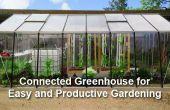 Een aangesloten kas voor gemakkelijk en productief tuinieren