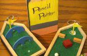 De Putter potlood: Rugzak golfbaan sleutelhanger
