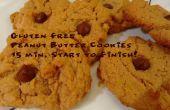 Gluten vrije Peanut Butter Cookies: 15 minuten Start tot Finish!