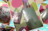 Terug naar School Duct Tape geld houder en potlood Case
