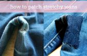 Hoe patch stretchy jeans
