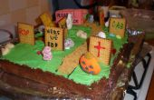 Halloween kerkhof taart