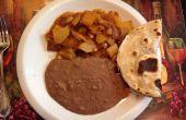 Mexicaanse Hash of Chorizo Con Papas (Mexicaanse worst w aardappelen)