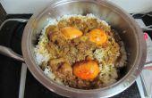 Biryani met eieren voor een extra kick kip