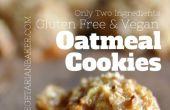 Hoe maak je glutenvrij, Vegan Oatmeal Cookies | Slechts 2 ingrediënten