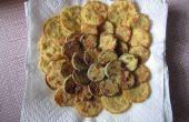 Gele pompoen en courgette gebakken