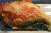 Snelle spinazie lasagne magnetron