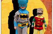 Klassieke Batman en Robin Kids' DIY kostuums