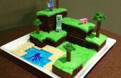 Minecraft wereld taart