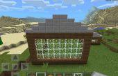Hoe maak je het dak van een loods op Minecraft