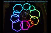 PEX Pipe zeshoeken met RGB LED-Strip
