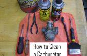 Het schoonmaken van een carburateur in 8 stappen!