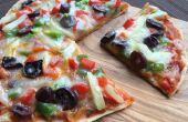 Volkoren plat brood Pizza zonder Oven