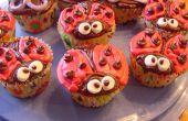 Schattig lieveheersbeestje Cupcakes