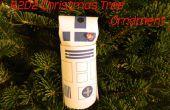 R2D2 Kerstboom Ornament uit een buis van de wc-papier