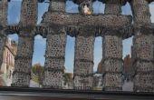 How to Build van het Romeinse aquaduct in Segovia, Spanje met garen