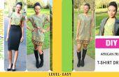 TRIBAL PRINT T-SHIRT jurk