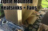 Ziptie gemonteerde koellichaam en Fans