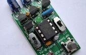 Batterij opslaan van TV-B-Gone met regio/bereik selectie schakelaars