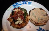 Bacon en 2 kaas gevulde Jalapeno Tex-Mex Turkije Hamburger