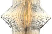 Ledlamp gerecycleerd boek