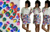 De vreugde van het schilderen van een DIY jurk