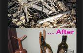 Voor en na de wijnfles houder