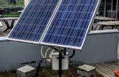 Dubbele as solar tracker met online energie monitor