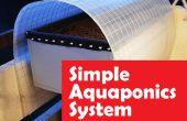 Eenvoudige Aquaponics systeem overstroming en afvoer