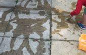 Schilderen met Water! Eenvoudige tuin leuk
