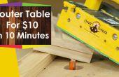 Hoe het bouwen van een router-tabel voor houtbewerking voor onder $10 in 10 minuten