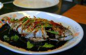 Chinese stijl gestoomde vis