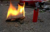Zaagsel vuur voorgerechten