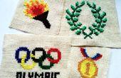 Olympisch geïnspireerd Cross-Stitches