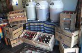 Huis brouw bier kratten van pallets!