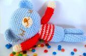 De slaperige teddybeer gratis Amigurumi patroon gehaakte